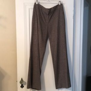 ANN TAYLOR-Brown/Cream Wide Leg Pants in size 10